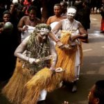 Ancestors and the traditional priesthood (Akom) of the Akan and Guan peoples